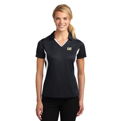 LCT7257<br>Ladies Sideblock Micropique Wicking Polo